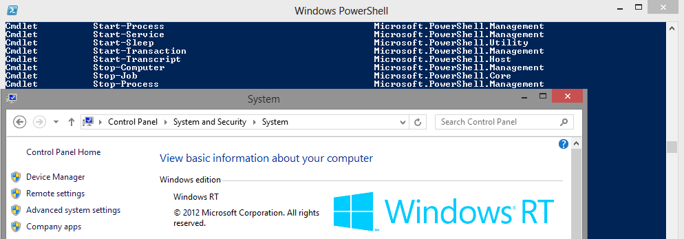 Windows RT has PowerShell | JeffOps